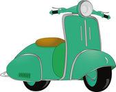 Motor scooter — Stock Vector