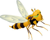 Yellow bee — Stock Vector