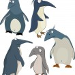 Stock Vector: Group of penguins