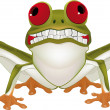 Royalty-Free Stock Vector Image: Smiling frog