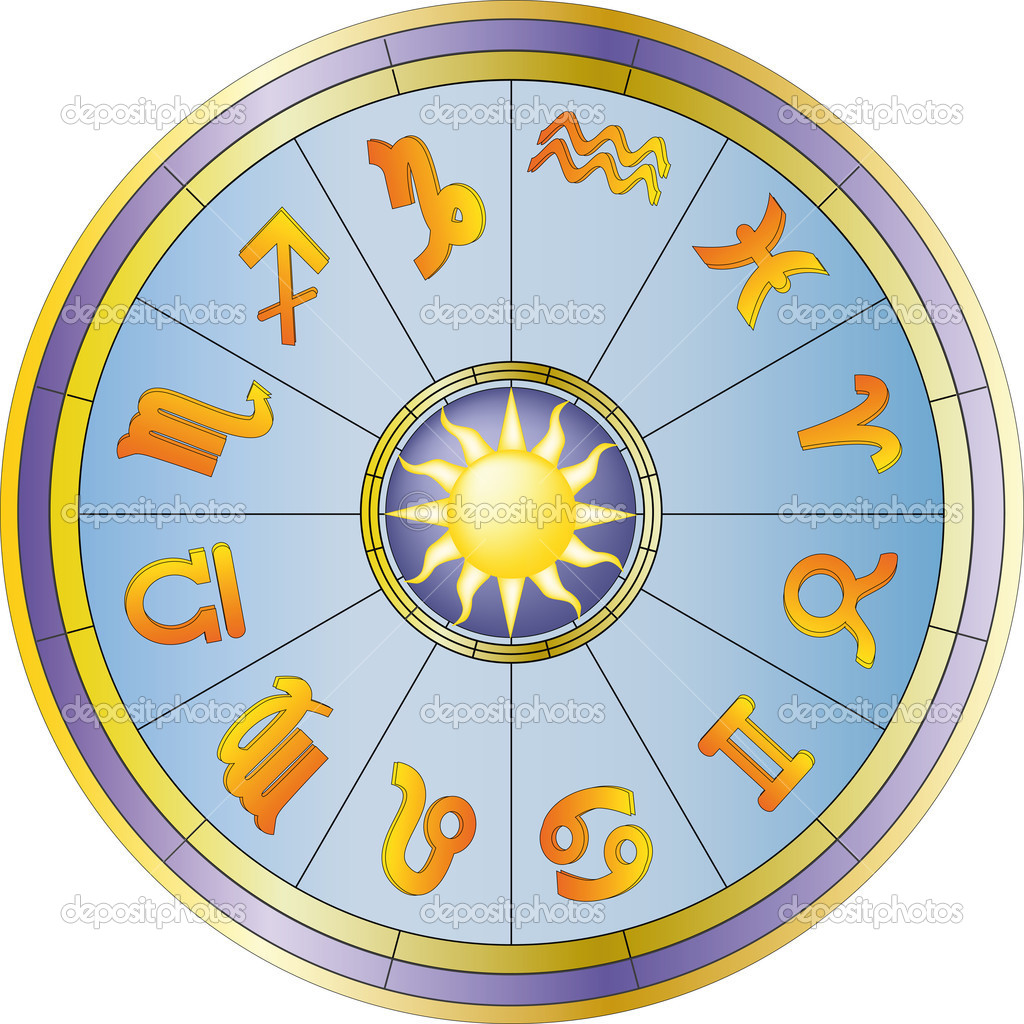 Stock Illustration Wheel And Zodiac Signs on 10421517