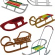Set sledge — Stock Vector