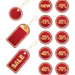Set of gold tags - Stock Vector