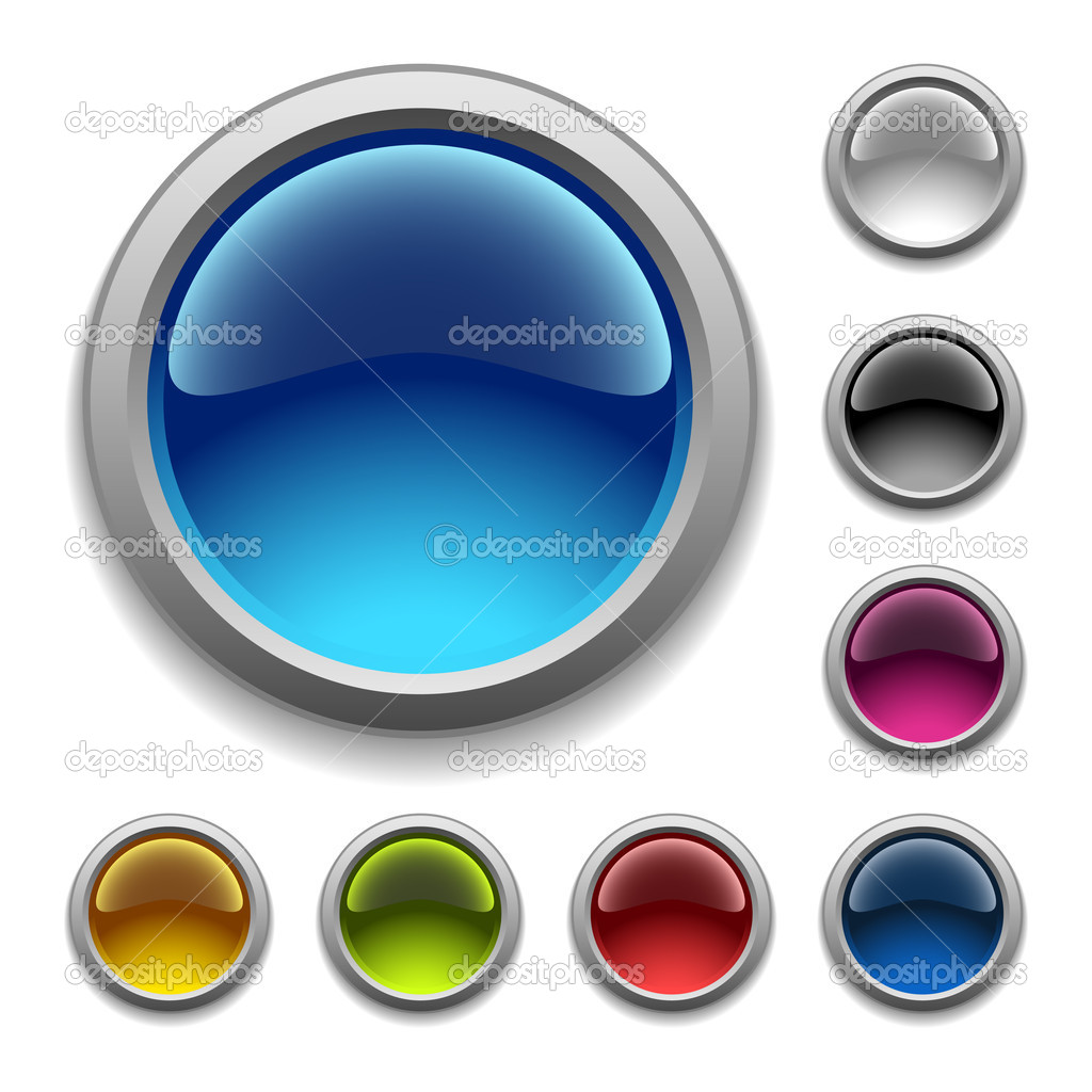 Vector glossy buttons — Stock Vector #2809597