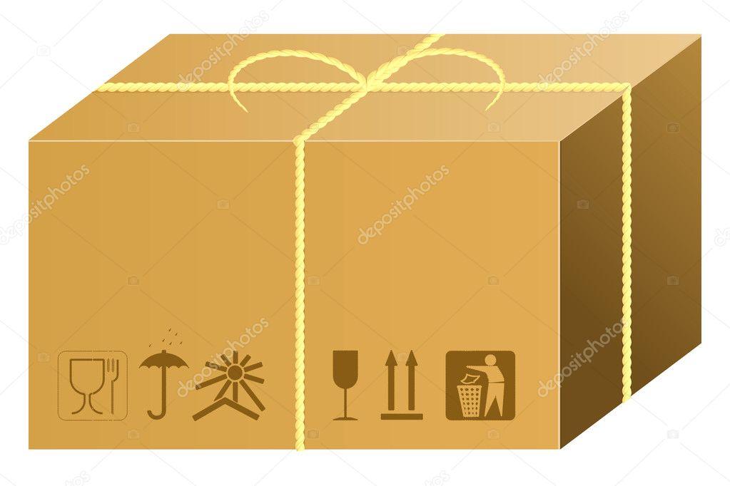 shipping box vector stock 3