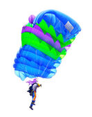 Parachutist in the air — Stock Photo