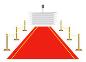 Red carpet to tribune — Stock Vector