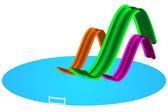 Aqua park illustration — Stock Vector