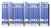 Beautiful multi-storey buildings — Stock Vector
