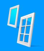 Perspective plastic window illustration — Stock Vector