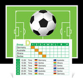 Schedule of games of the World Cup 2010 — Stock Vector