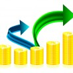 Financial success concept illustration — Stock Vector