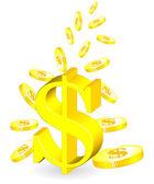 Moneda de oro — Vector de stock