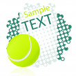 Stock Vector: Tennis background