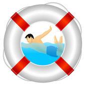 Lifeguards — Stock Vector
