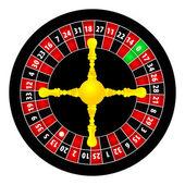 Roulette illustration on white background — Stock Vector