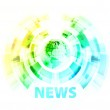 News background with globe — Stock Vector