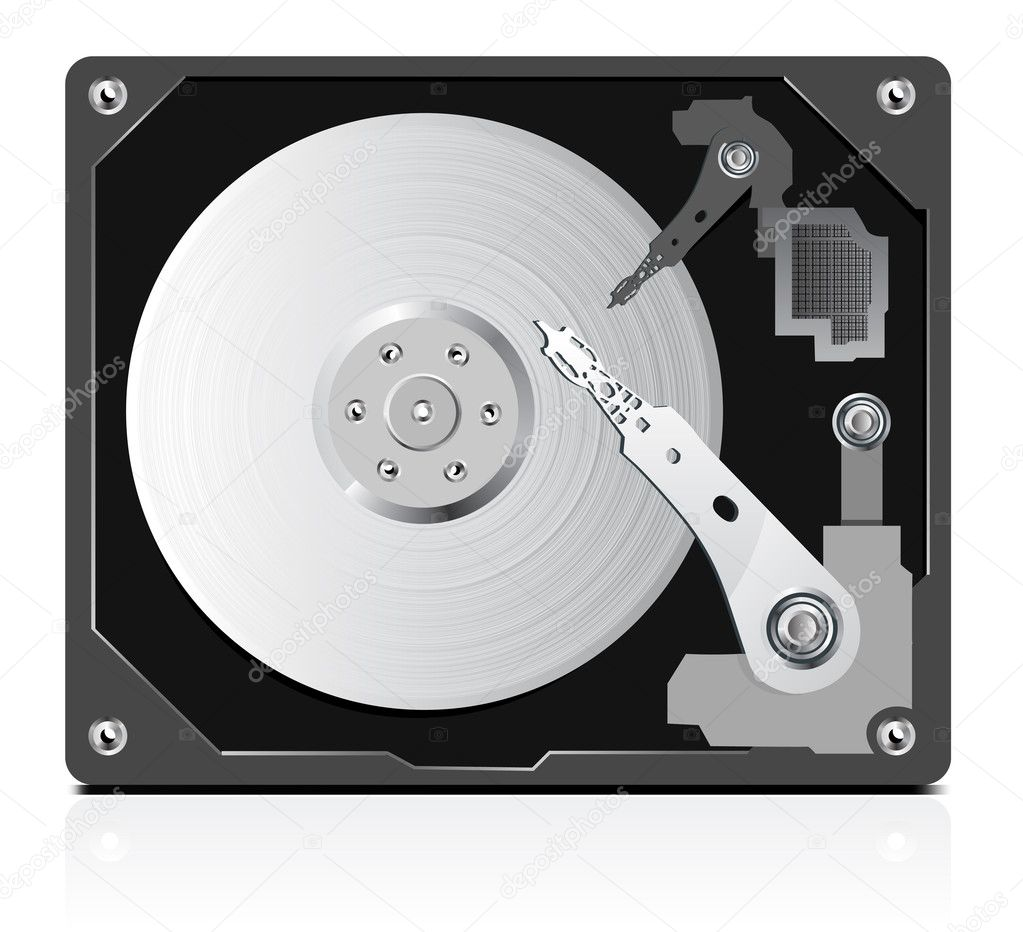 Vector of hard disk   Stock Vector #3643083