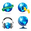 Royalty-Free Stock Vector Image: Globe icon set