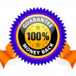 Money back guarantee — Stockvectorbeeld