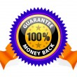 Stock Vector: Money back guarantee