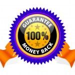 garanzia soddisfatti o rimborsati — Vettoriale Stock