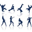 Royalty-Free Stock Vector Image: Dancing silhouettes