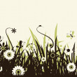 Summer meadow beautiful - Imagen vectorial