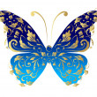 Butterfly, ornate for your design — Stock Vector