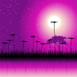 Night field and flowers — Stock Vector #3099221