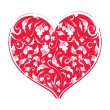 Floral heart shape for your design - Stock vektor