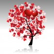 Royalty-Free Stock Vector Image: Valentine tree beautiful for your design