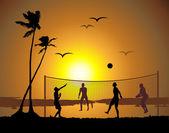 Beachvolleyball — Stockvektor
