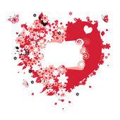 あなたの設計の花ハート — ストックベクタ