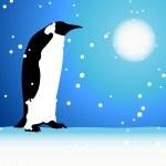 Penguin, winter in Arctic — Stock Vector #3109258