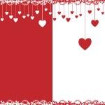 carte de Valentine, illustration vectorielle — Vecteur