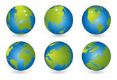 Mapa-múndi, série globo 3d — Vetorial Stock