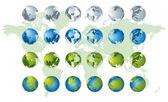 Mapa del mundo, series de globo 3d — Vector de stock