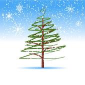 Christmas tree, winter — Stock Vector
