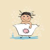 Bathing — Stockvektor