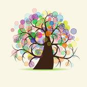 Art tree fantasy — Stock Vector