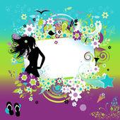Summer dreams, greeting card — Stock Vector