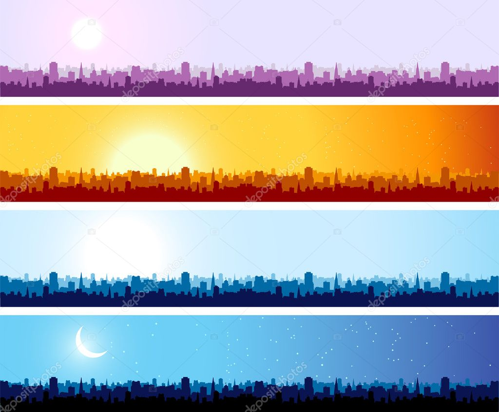 Cityscape background, urban art — Stockvectorbeeld #3151174