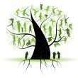 Family tree, silhouettes — Stock Vector #3209901