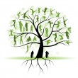 Family tree, silhouettes — Stock Vector #3209905