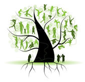Family tree, silhouettes — Stock Vector