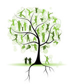 Family tree, relatives, silhouettes — Stock Vector