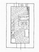 Design d'interni appartamenti - vista dall'alto — Vettoriale Stock