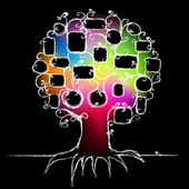 Design of family tree, insert photos — Stock Vector