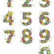 Numbers, floral design — Stock Vector #3210054
